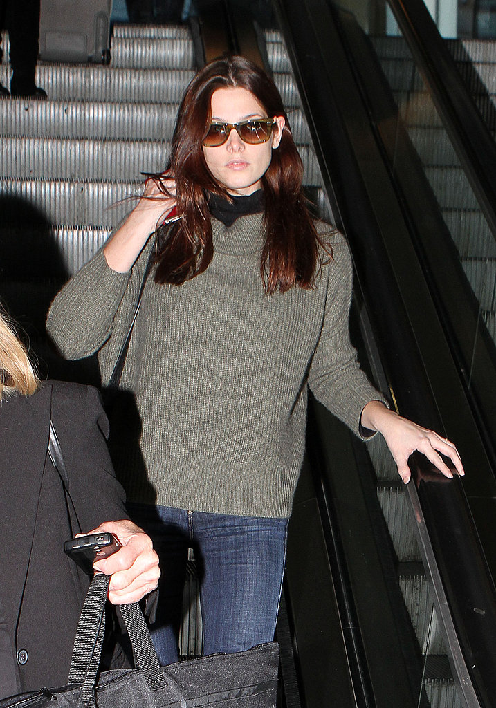 Ashley Greene landed at LAX.