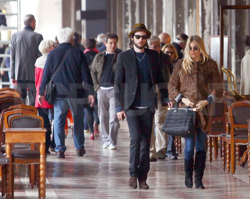 Sienna Miller and Tom Sturridge were a fashionable sight in Venice.