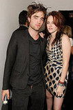Robert Pattinson looked hot in a black ensemble while posing with Kristen Stewart in LA at the November 2008 filming of MTV's Spoiler, where the two shared a sneak peek of the Twilight movie.