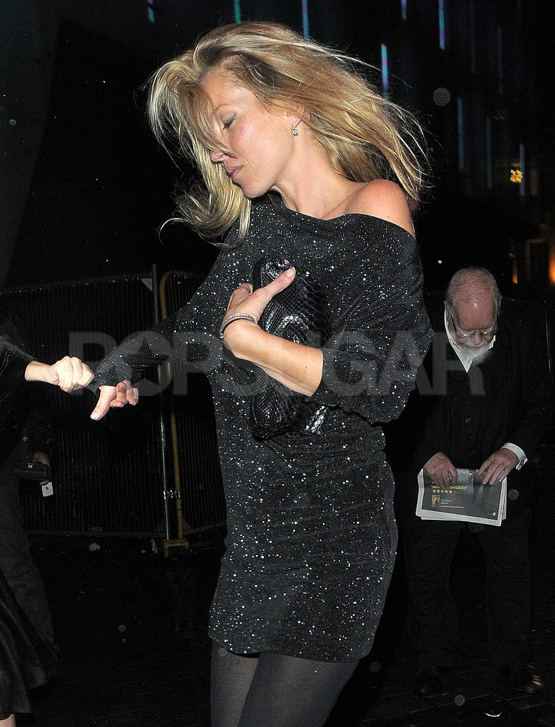 Kate Moss partied in London.