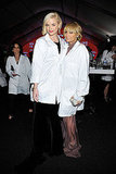 Jaime King and Nicole Richie put lab coats over their dresses.