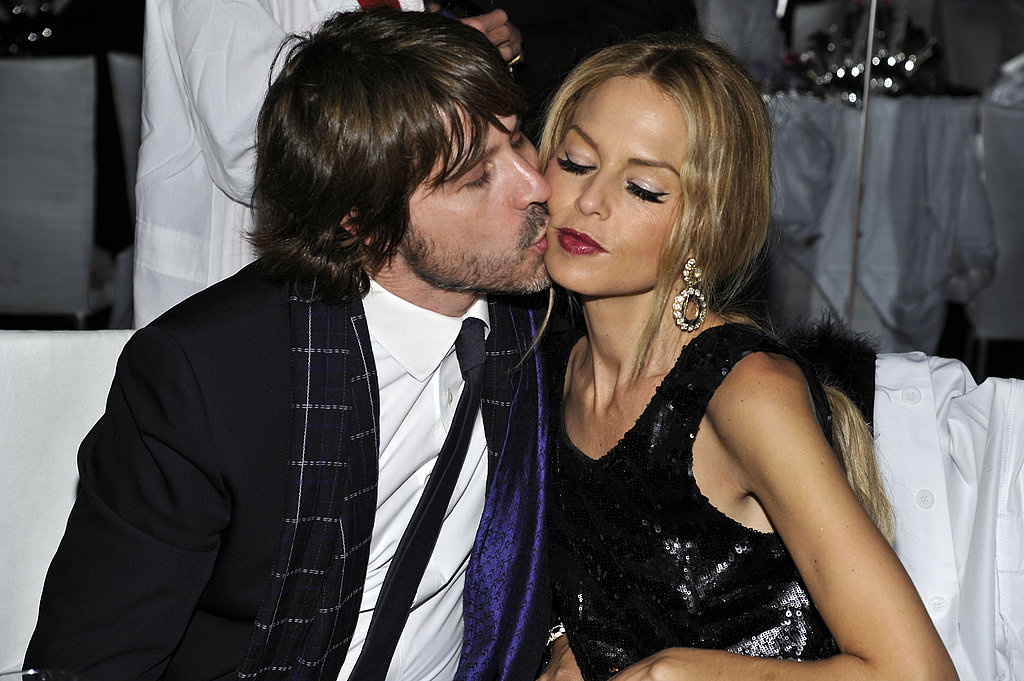 Rodger Berman got romantic with Rachel Zoe at a gala in LA.