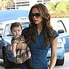 Victoria Beckham and Harper Beckham Pictures at LAX