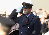 Prince William saluted fallen soldiers in Whitehall.