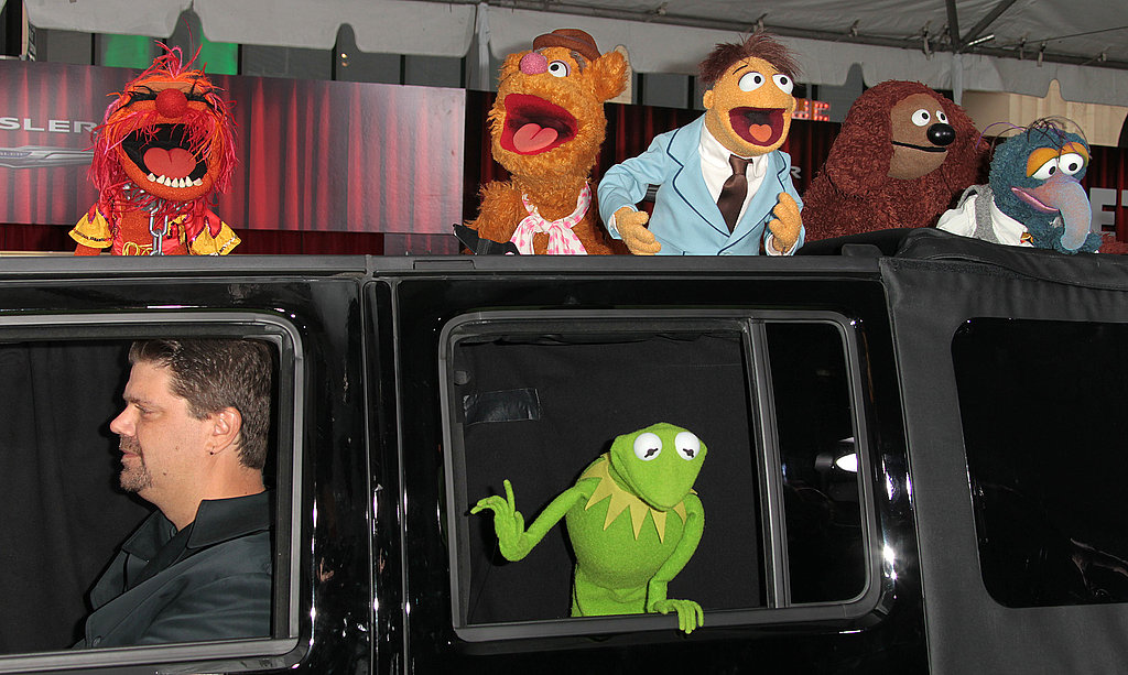 Kermit was joined by the boys arriving at the premiere.