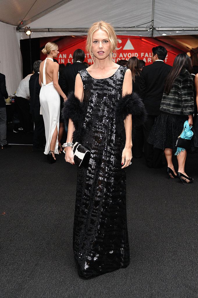 Rachel Zoe in a long black dress at the 2011 MOCA Gala.