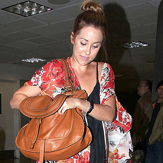 Lauren Conrad at LAX in a Kimono Style Jacket Pictures