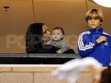 Victoria Beckham whispered to Harper.