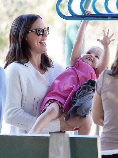 Jennifer Garner and Seraphina Affleck at an LA park.