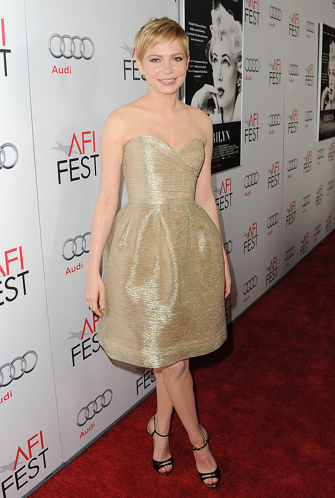 Michelle Williams took a turn on the red carpet for AFI Fest.