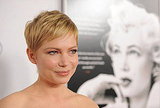 Michelle Williams kept her crop after filming with slightly longer hair for My Week With Marilyn.