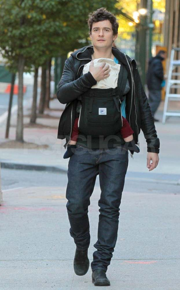 Orlando Bloom with Flynn in NYC.