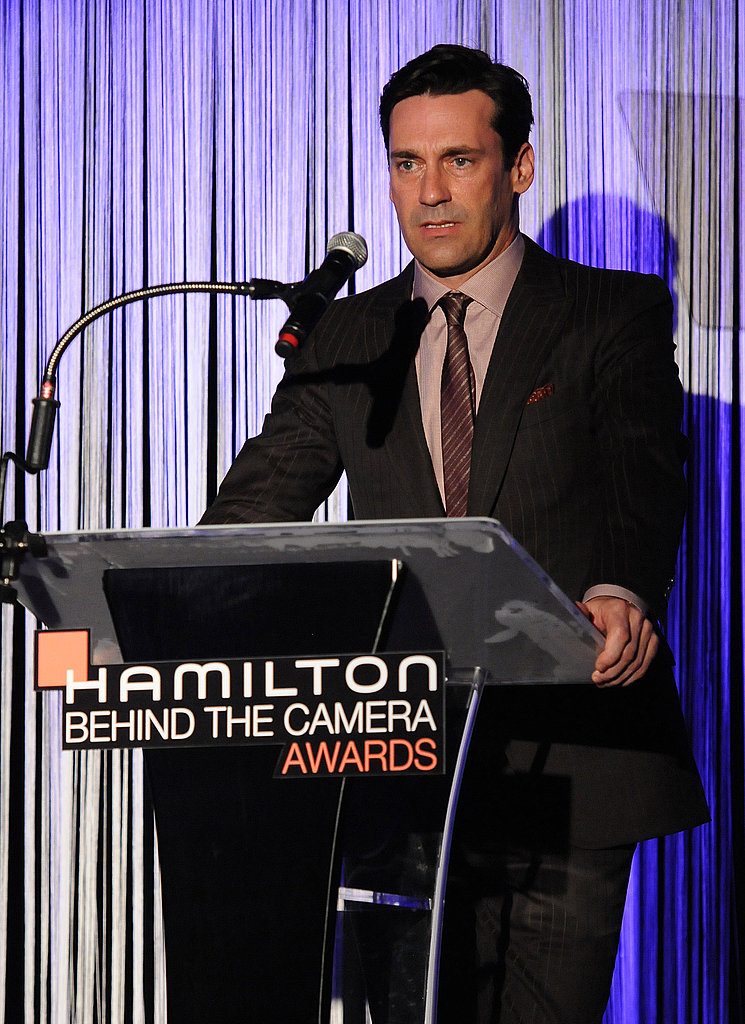 Jon Hamm took the podium at an event in LA.