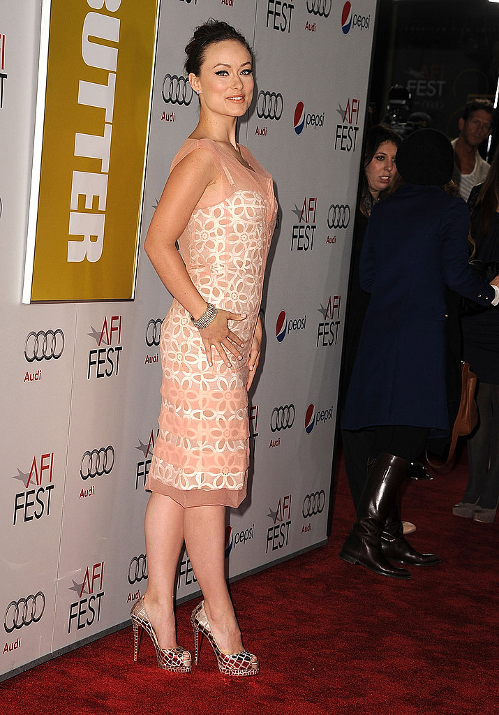 Olivia Wilde wore mirrored heels on the red carpet