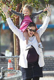 Jennifer Garner at an LA park with Seraphina Affleck.