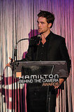 Robert Pattinson was the center of attention at the Hamilton Behind the Camera Awards.