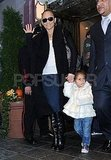 Jennifer Lopez led Emme to a car outside of their NYC hotel.