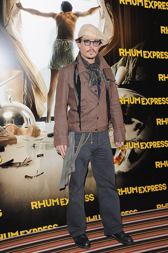 Johnny Depp is in Paris promoting his latest film.