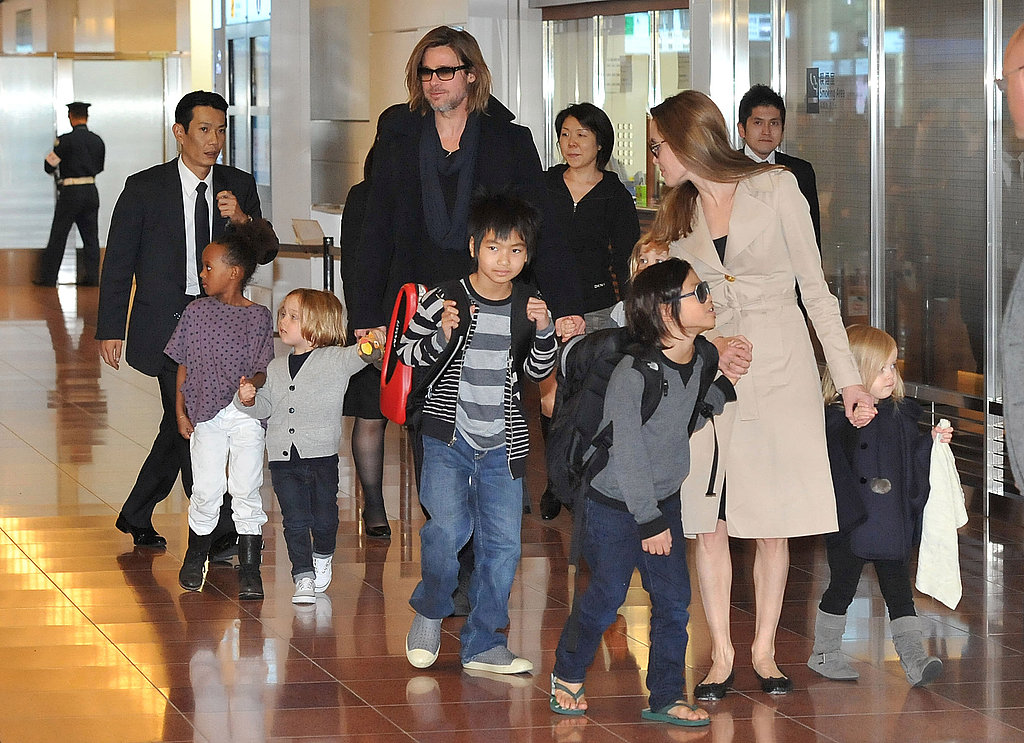 Pax led the way for the rest of the Jolie-Pitt family.