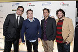 Bob Saget, Colin Quinn, Seth Meyers, and Jeff Ross at the Cool Comedy - Hot Cuisine for Scleroderma Research Foundation event in NYC.