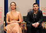 Kaley Cuoco and Joe Jonas at the People's Choice Awards nominations.