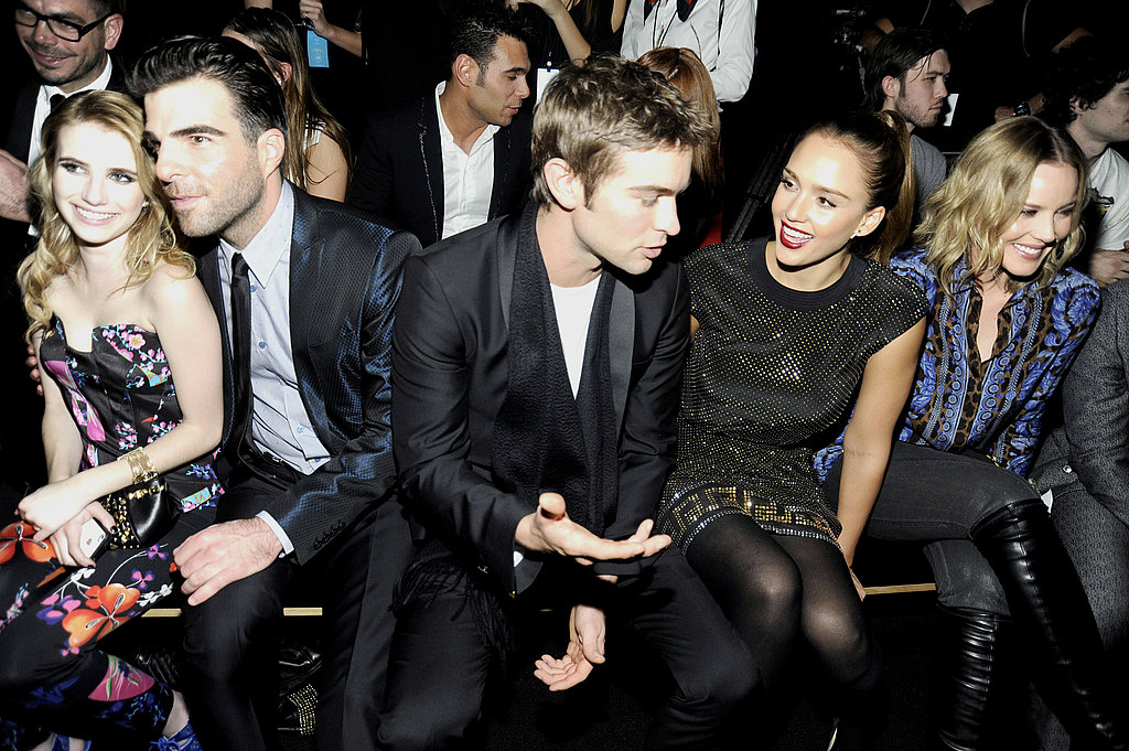 Emma Roberts, Zachary Quinto, Chace Crawford, Jessica Alba, and Abbie Cornish rounded out the star-studded front row.