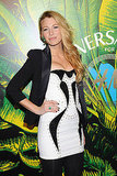 Blake Lively rocked a miniskirt on the black carpet.