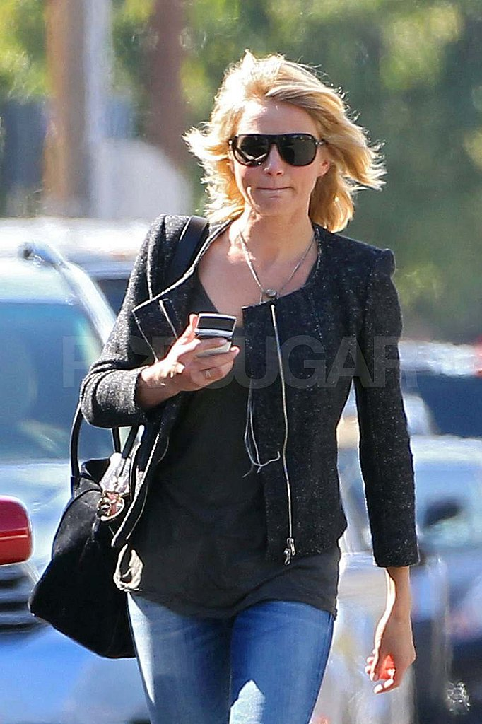 Cameron Diaz steps out with shorter hair.