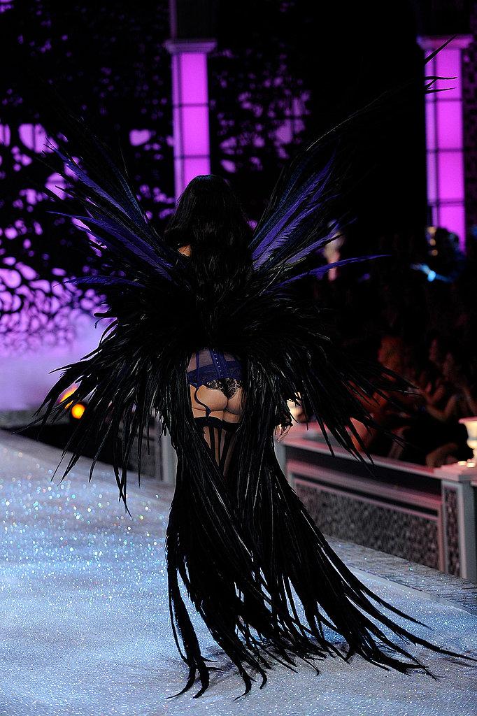 Adriana Lima made a peek-a-boo exit.