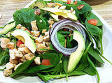 Lunch: Spinach Salad With Chicken, Tomatoes, and Avocado