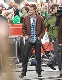 Robert Pattinson wore a plaid shirt to The Today Show.