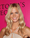 Erin Heatherton in a pretty, neutral dress.