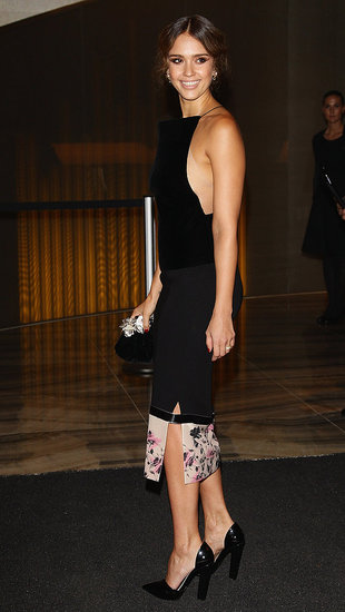 Jessica Alba Goes Dramatic in a Sexy Cutout Dress For a Night in Milan