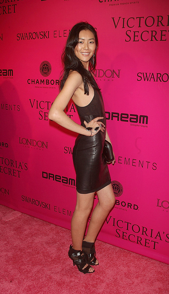 Liu Wen wore a second-skin dress.