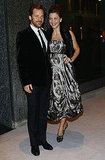 Maggie Gyllenhaal and Peter Sarsgaard together at the opening of the Armani Hotel in Milan.