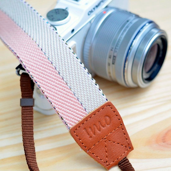 Peach and Vanilla Camera Strap ($22)