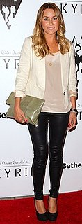 Lauren Conrad in Paper Crown Silk Blouse and Blazer