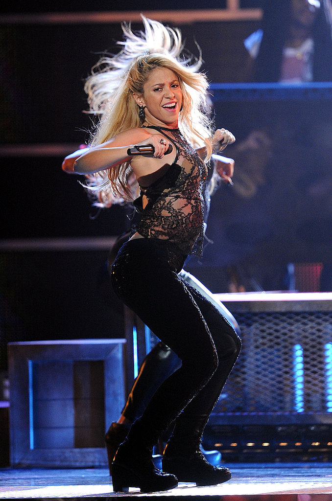 Shakira busted out her signature dance moves on stage.