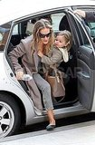 Sarah Jessica Parker got out of a car with Tabitha Broderick in tow.