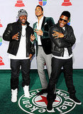 Rico Love, Romeo Santos, and Usher hit the green carpet.
