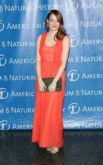 Emma Stone wowed in a red dress in NYC.