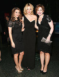 SNL stars Vanessa Bayer, Abby Elliott, Nasim Pedrad at a gala in NYC.