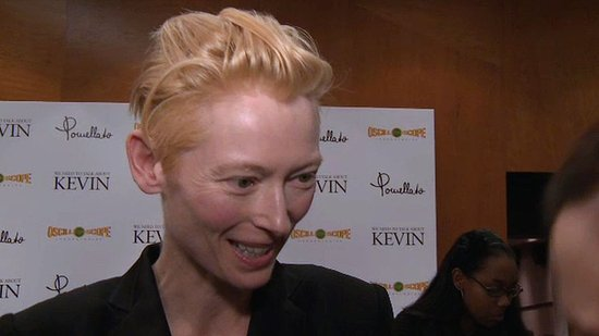 "Video: Tilda Swinton on ""Taboo"" Parenting Talk — It's All a ""Crapshoot"""