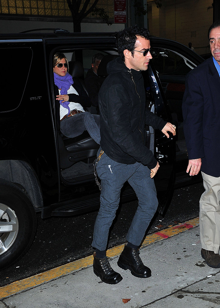Jennifer Aniston and Justin Theroux headed out for a date in NYC.