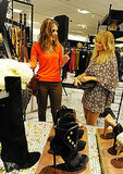 Nicole talked to reporters about her favorite items in the collection.
