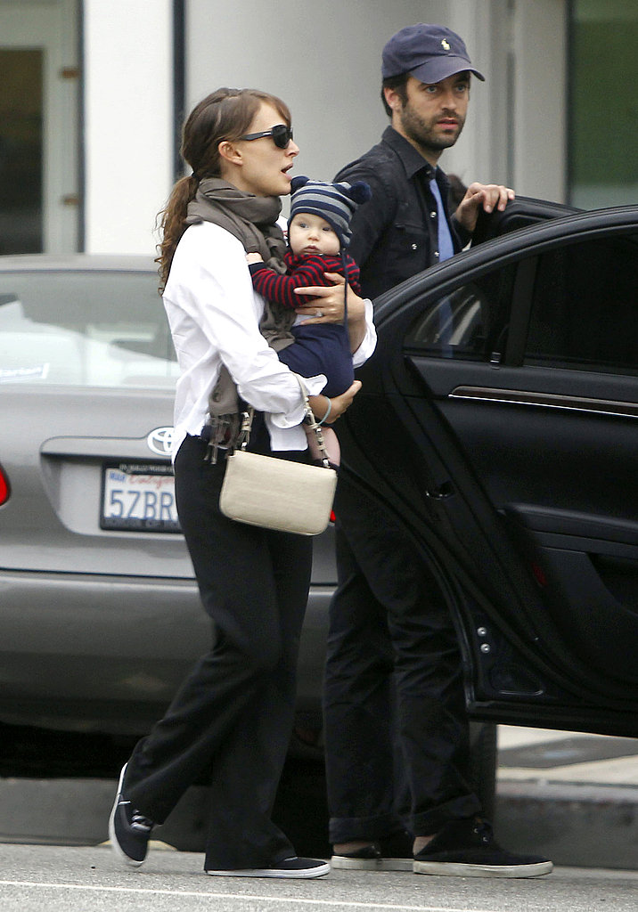 Natalie Portman left a LA kids shop with her son Aleph Millepied and Benjamin Millepied.