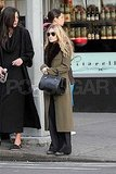 Ashley Olsen waited for the lights to change in NYC.