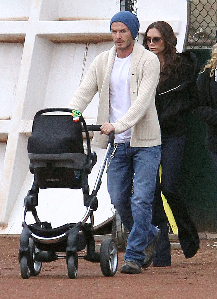 Victoria, David, and Harper Beckham attended a children's soccer game in LA.