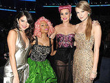Selena Gomez, Nicki Minaj, Katy Perry, and Taylor Swift hung out backstage.
