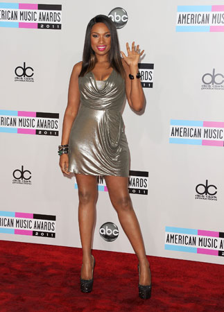 Jennifer Hudson sparkled in a silver dress.